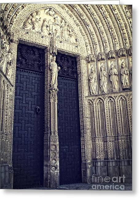 Gothic Cathedral Toledo Greeting Card by Ivy Ho
