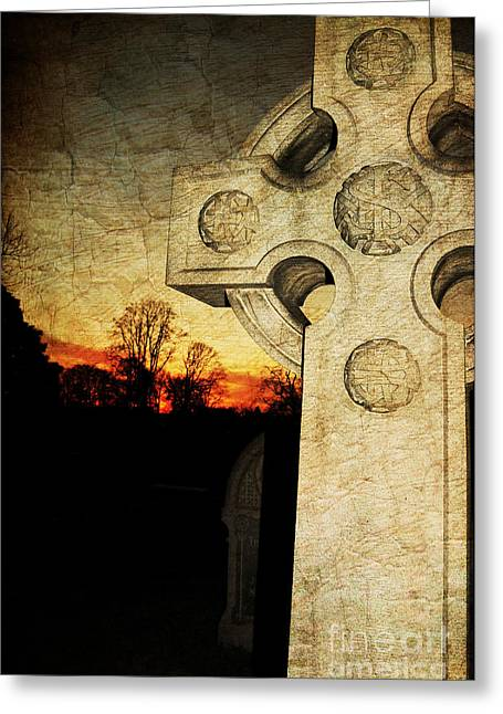 Gothic Cross Greeting Card by Paul Ward