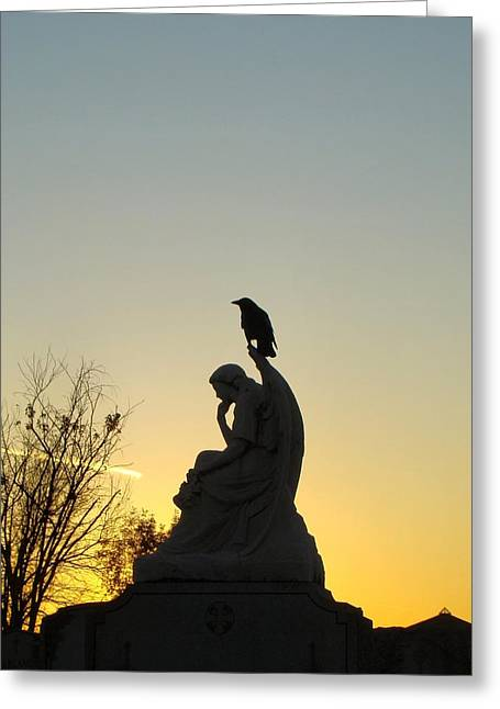 Gothic Dusk Sky Greeting Card by Gothicrow Images