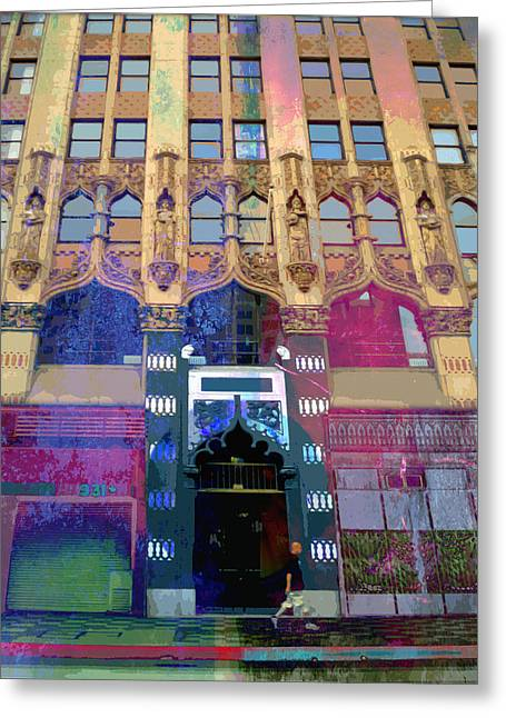 Greeting Card featuring the photograph Gothic Entrance by John Fish