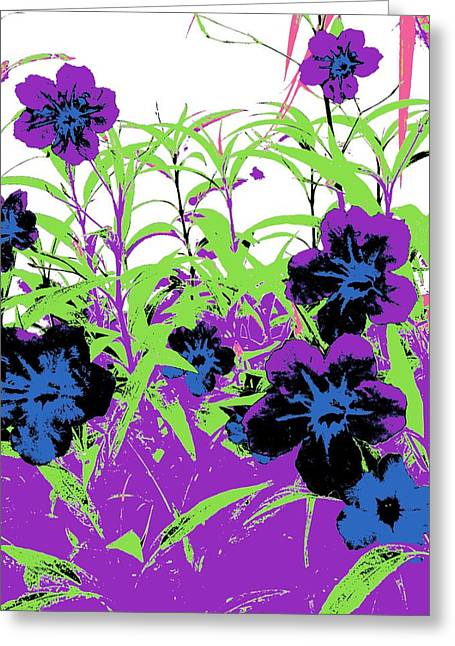 Gothic Garden Orchid Greeting Card