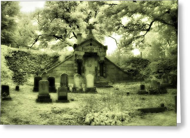 Gothic Mausoleum Greeting Card