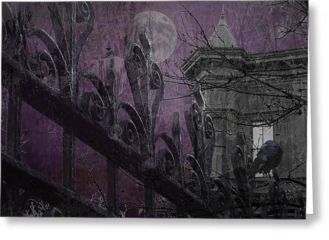 Gothic Moonlight Greeting Card by Suzanne Powers