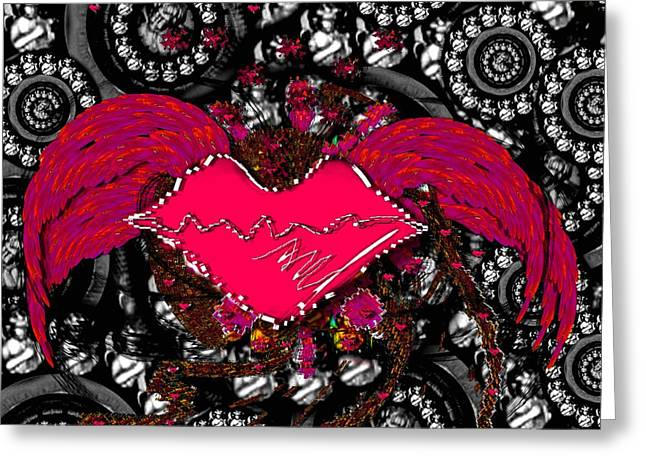 Gothic Night Greeting Card by Pepita Selles