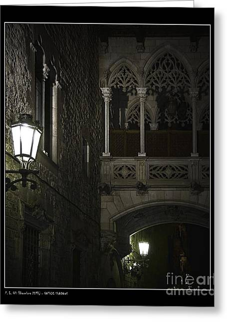 Gothic Shadows Greeting Card by Pedro L Gili
