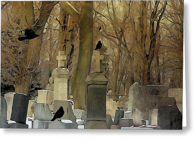 Gothic Splash Greeting Card by Gothicrow Images