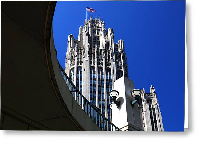 Gothic Tribune Tower Curve Greeting Card