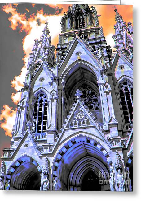 Gothic Wonder Greeting Card by GabeZ Art
