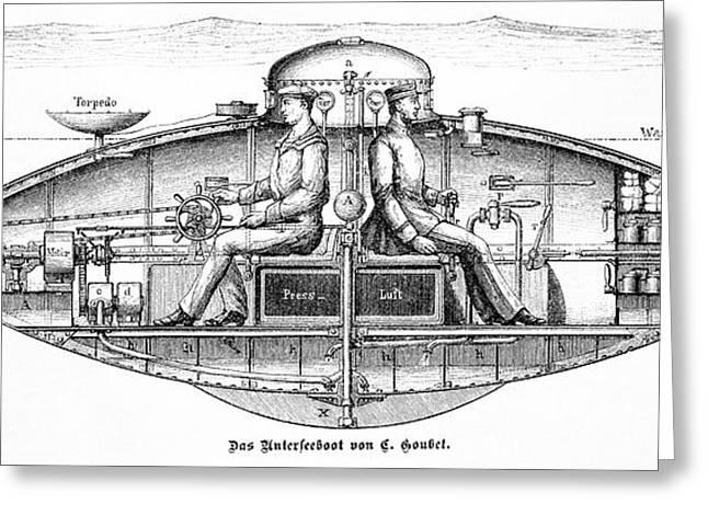 Goubet Submarine Greeting Card by Bildagentur-online/tschanz