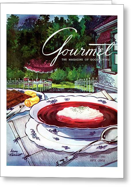 Gourmet Cover Featuring A Bowl Of Borsch Greeting Card
