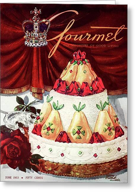 Gourmet Cover Featuring A Cake Greeting Card by Henry Stahlhut