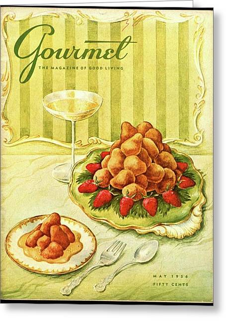 Gourmet Cover Featuring A Plate Of Beignets Greeting Card by Hilary Knight