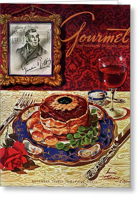 Gourmet Cover Featuring A Plate Of Tournedos Greeting Card