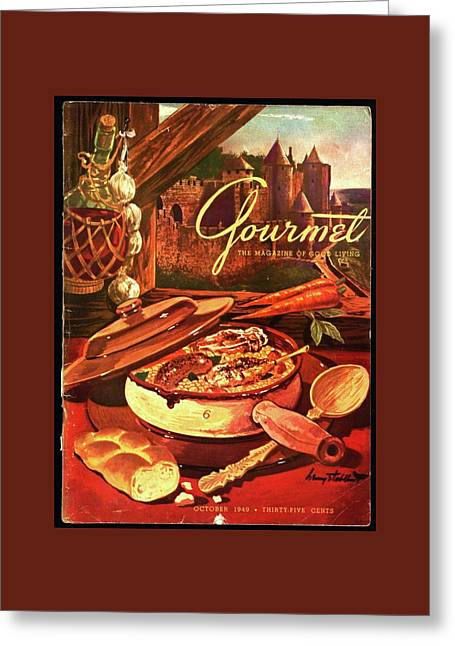 Gourmet Cover Featuring A Pot Of Stew Greeting Card by Henry Stahlhut