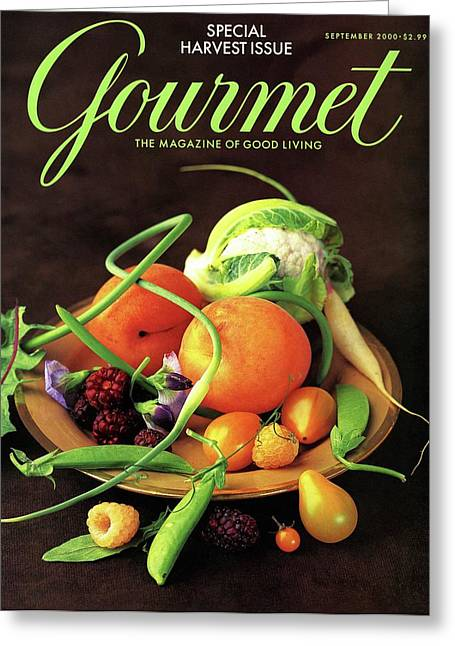 Gourmet Cover Featuring A Variety Of Fruit Greeting Card