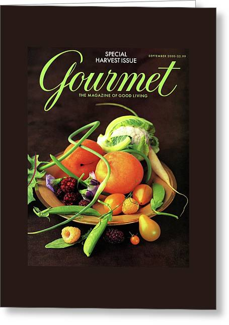 Gourmet Cover Featuring A Variety Of Fruit Greeting Card by Romulo Yanes