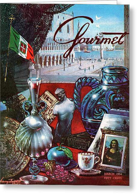 Gourmet Cover Featuring A Variety Of Italian Greeting Card