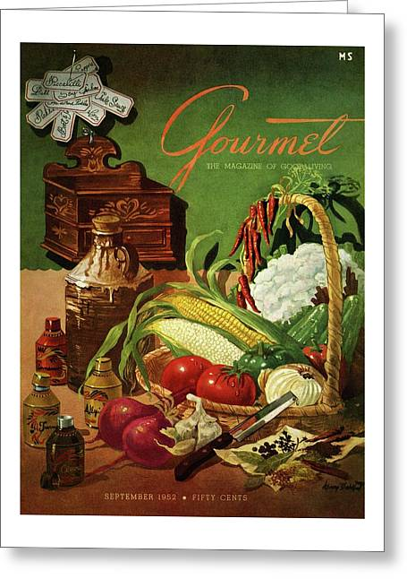 Gourmet Cover Featuring A Variety Of Vegetables Greeting Card