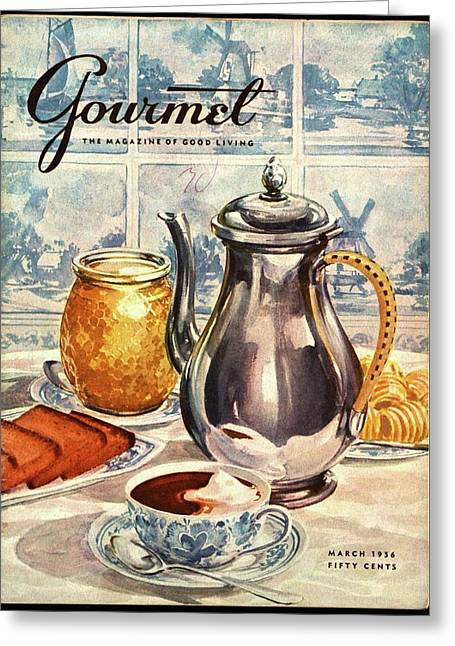 Gourmet Cover Featuring An Illustration Greeting Card