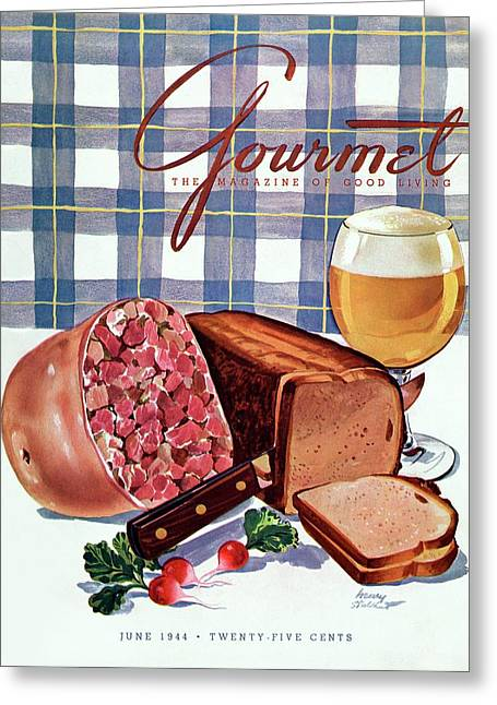 Gourmet Cover Featuring Bread Greeting Card