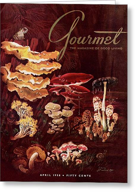 Gourmet Cover Featuring Wild Mushrooms Greeting Card