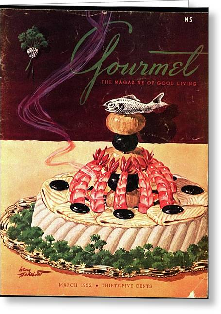Gourmet Cover Illustration Of A Filet Of Sole Greeting Card
