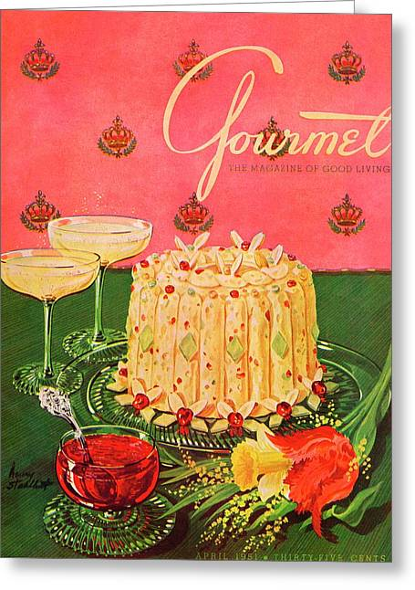 Gourmet Cover Illustration Of A Molded Rice Greeting Card