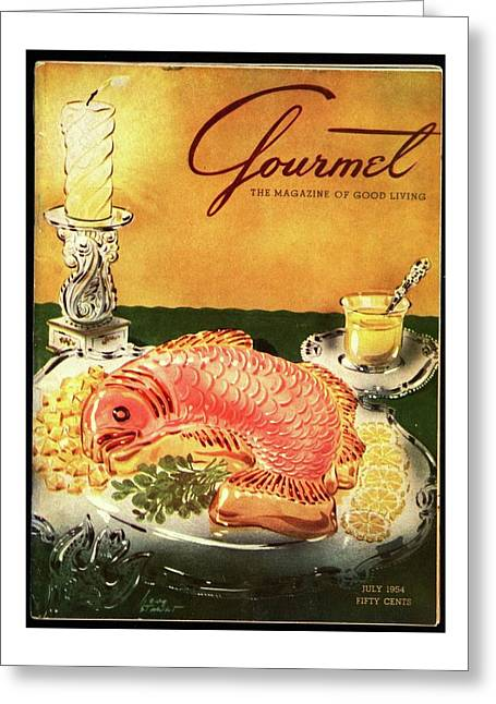 Gourmet Cover Illustration Of Salmon Mousse Greeting Card