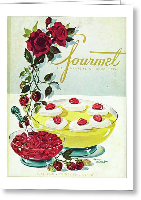 Gourmet Cover Of A Bowl Of Custard Greeting Card