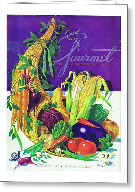 Gourmet Cover Of A Cornucopia Greeting Card