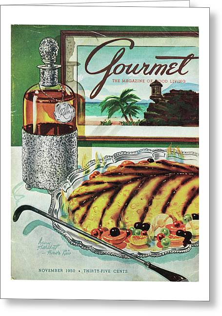 Gourmet Cover Of An Omelette Au Ruhm Greeting Card