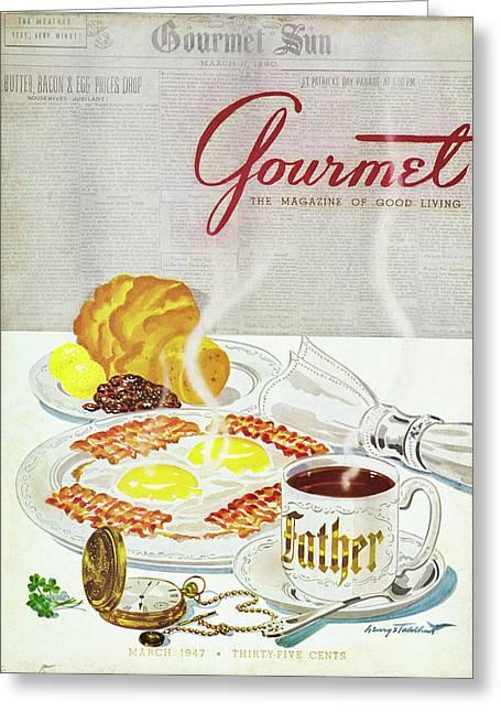 Gourmet Cover Of Breakfast Greeting Card