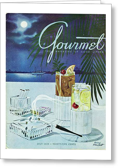 Gourmet Cover Of Cocktails Greeting Card