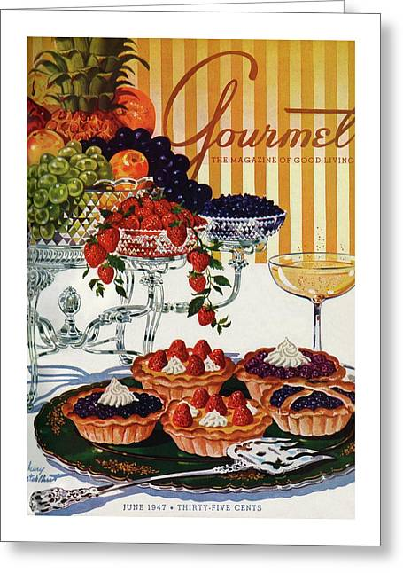 Gourmet Cover Of Fruit Tarts Greeting Card
