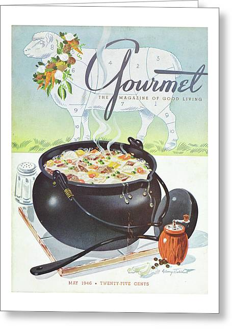 Gourmet Cover Of Lamb Stew Greeting Card
