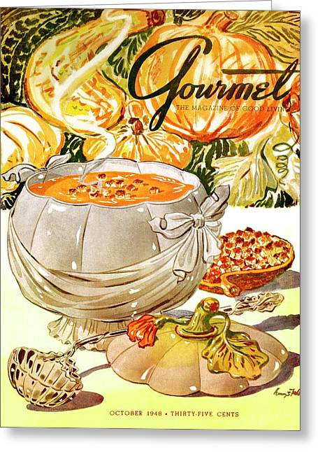 Gourmet Cover Of Pumpkin Soup Greeting Card