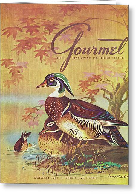 Gourmet Cover Of Wood Ducks Greeting Card by Henry Stahlhut