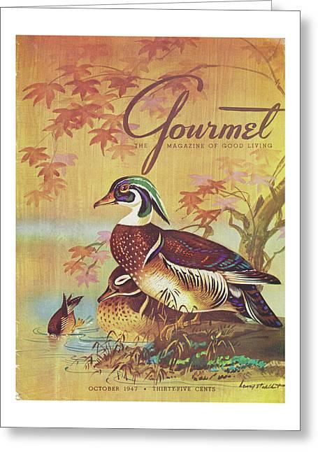 Gourmet Cover Of Wood Ducks Greeting Card