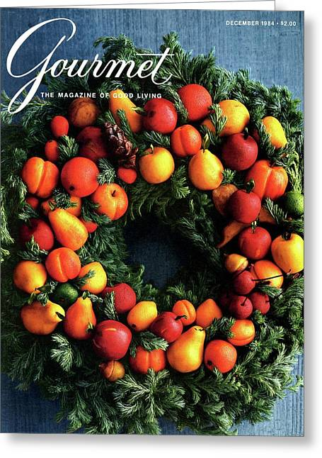 Gourmet Magazine Cover Featuring Marzipan Wreath Greeting Card