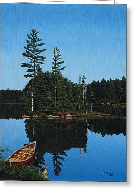 Govan Lake Greeting Card by Ron Plaizier