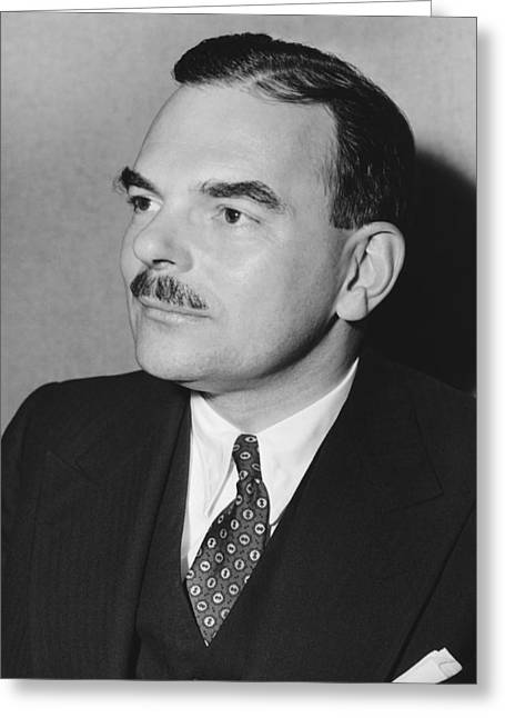 Governor Thomas F. Dewey Greeting Card by Underwood Archives