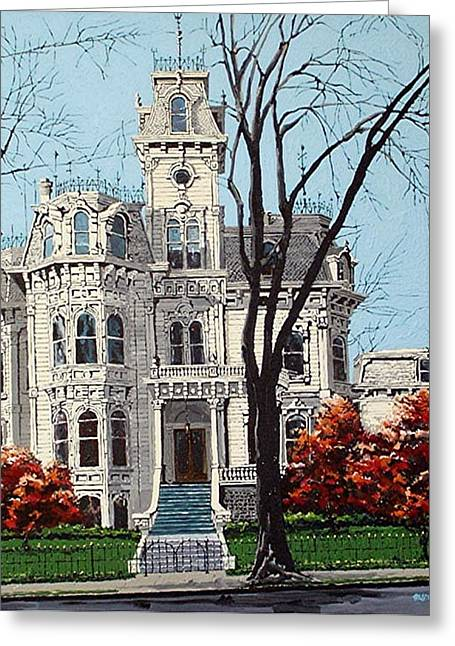 Governor's Mansion Greeting Card by Paul Guyer