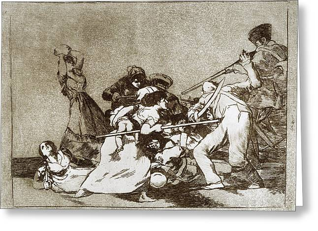 Goya Disasters Of War Greeting Card by Granger