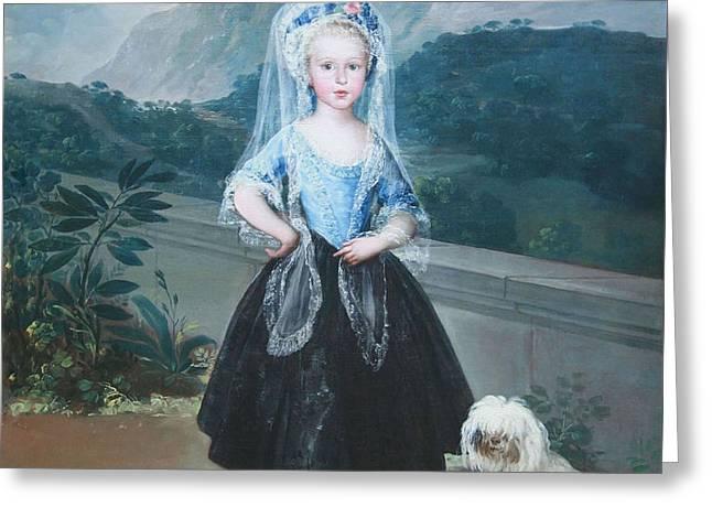 Goya's Maria Teresa De Bordon Y Vallabriga Later Condesa De Chinchon Greeting Card by Cora Wandel