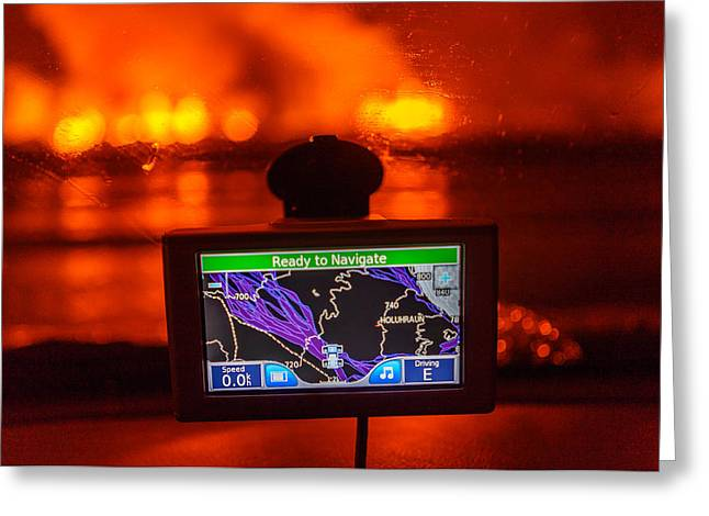Gps With The Holuhraun Fissure Eruption Greeting Card