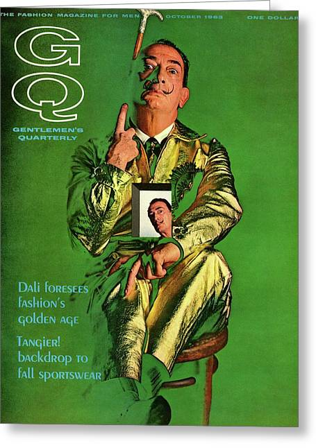 Gq Cover Featuring Salvador Dali Greeting Card by Chadwick Hall