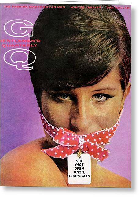 Gq Cover Of Barbra Streisand Gagged Greeting Card by Carl Fischer
