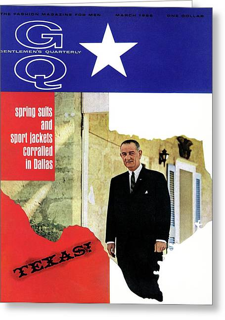 Gq Cover Of President Lyndon B. Johnson Greeting Card by Leonard Nones