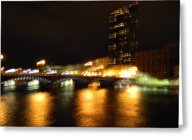 G.r. Grand River Glow Greeting Card by Mark Minier