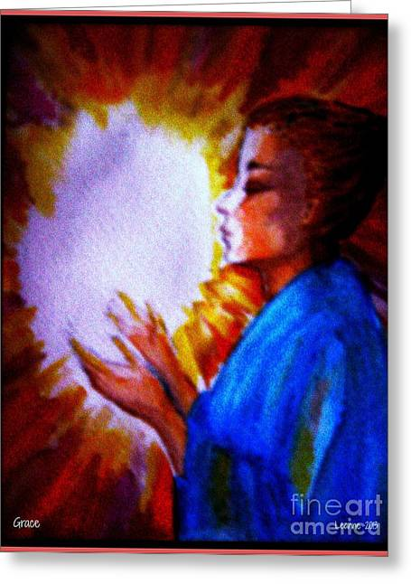 Greeting Card featuring the painting Grace - 1 by Leanne Seymour